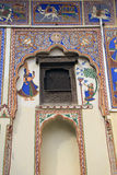 Målade hus av Mandawa arkivfoton