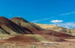 Målade kullar östliga Oregon Arkivbilder
