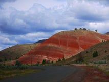 Målade kullar Arkivfoto