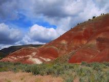 Målade kullar Arkivbild