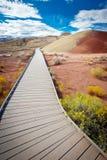 Målade kullar, John Day Fossil Beds Oregon Arkivbilder