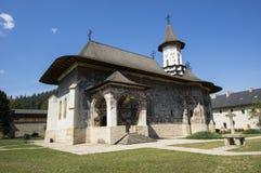målade kyrkliga moldavia Royaltyfri Foto