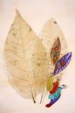 målade leaves royaltyfri bild