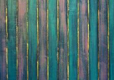 Målade plankor, tappningbakgrund Fotografering för Bildbyråer
