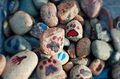 målade rocks royaltyfria bilder