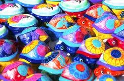 målade sköldpaddor Royaltyfria Bilder