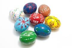 målade skal för ägg äkta hand Arkivfoto