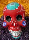 Målade skalle/Mexico - stad, Mexico Arkivbilder