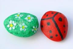 målade stenar Royaltyfria Bilder