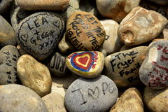 Målade stenar Arkivbilder