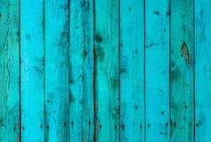Målade träplankor, mintkaramell och blått, texturbakgrund Arkivfoto