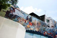 Målade väggmålningar Arkivfoton