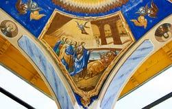målande klosterbroder ii Arkivbilder