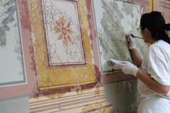 målande roman vägg Royaltyfri Foto