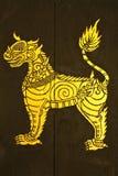 målande thai tradional Arkivfoto