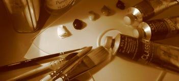 målande tillförsel Royaltyfria Foton
