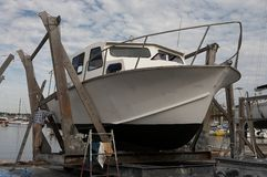 målande yacht Arkivbild