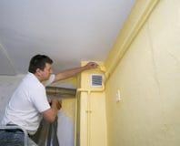 målande yellow Arkivbild