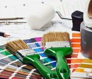 Målar och målar reparerar Fotografering för Bildbyråer