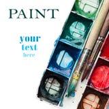 målar palettvattenfärg Royaltyfri Bild