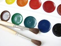 målar vattenfärg Arkivbild