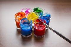 målar vattenfärg Royaltyfria Foton