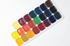 målar vattenfärg Arkivfoto