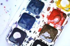 målar vattenfärg olika färger Royaltyfria Foton