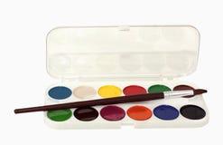 målar vattenfärger Royaltyfri Fotografi