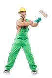 Målare i gröna overaller Arkivfoton