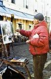 Målare i Paris Arkivbilder