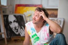 Målare och hans konst Royaltyfri Bild
