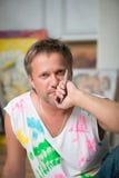 Målare och hans konst Royaltyfri Foto