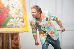 Målare och hans konst Royaltyfri Fotografi