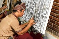 Målare på arbete royaltyfri foto