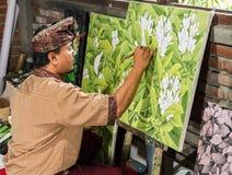 Målare på arbete Fotografering för Bildbyråer