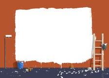 Målare på arbete Arkivfoton
