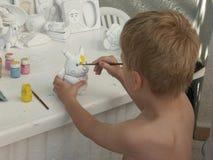 målarebarn Arkivbild