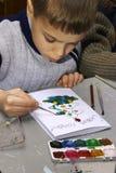 målarebarn arkivbilder