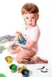 målarebarn fotografering för bildbyråer