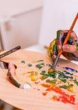målareflicka Arkivbilder