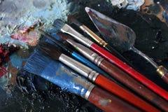 målarehjälpmedel Royaltyfri Fotografi
