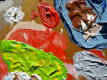 målarepalett Royaltyfria Foton