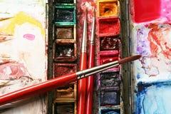 målarepalett s Arkivfoto
