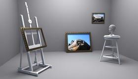 målareskulptör Arkivbilder