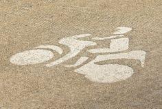 Målarfärg av motorcykeltecknet Arkivbilder