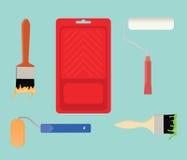 Målarfärg bearbetar illustrationen för samlingsmaterialvektorn royaltyfri illustrationer