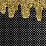 Målarfärg dryper för designbruk Guld- målarfärgstekflott Arkivfoto