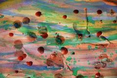 Målarfärg färgar och former, abstrakt begrepptextur och bakgrund Arkivbilder
