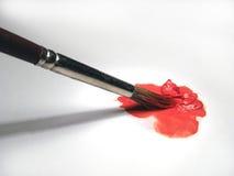 målarfärg för borstefärgolja Arkivfoton